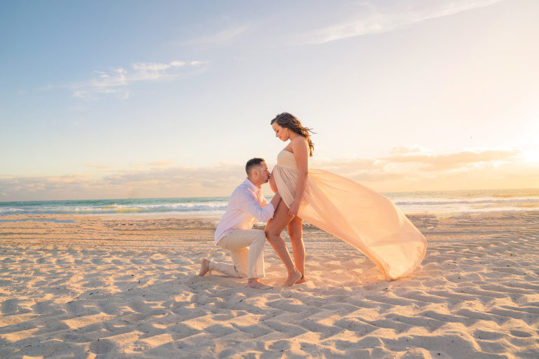 Miami Beach Maternity Session Stephanie Anders Photography Miami Florida